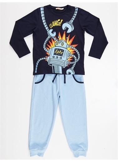 Denokids Clang Erkek Çocuk Pantolon Takım Renkli